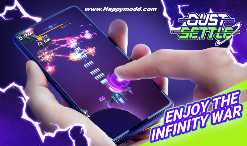 Dust Settle 3D-Infinity Space Shooting Arcade Game Mod Apk