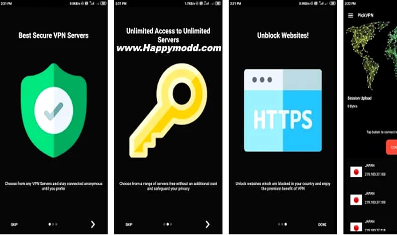 Touch VPN -Free Unlimited VPN Proxy & Wi-Fi Privacy Mod Apk