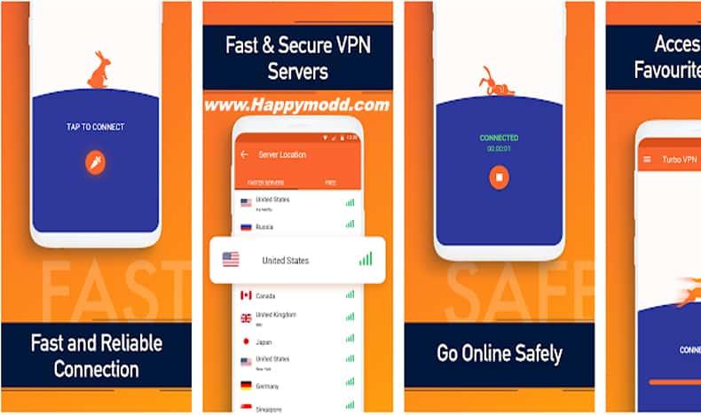 Turbo VPN Free VPN Proxy Server & Secure Service Mod Apk