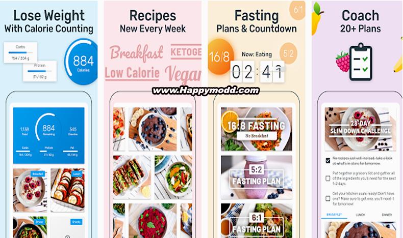 YAZIO Calorie Counter, Nutrition Diary & Diet Plan Mod Apk